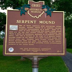 Us History, American History, Serpent Mound Ohio, Effigy Mounds, Me On A Map, Lancaster, Wonderful Places, North America, Markers