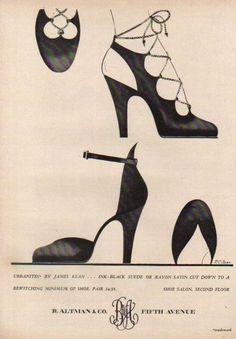 1947   B. Altman Department Store NY    James Kean Shoes Advertisement