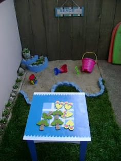 "DIY ""Sand box"" needs to be way bigger for jr but I love the idea"