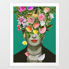 ART PRINT MINI Frida Floral by Desirée Feldmann