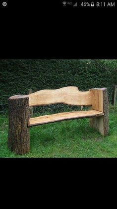 Log bench                                                                                                                                                                                 More #LogFurniture