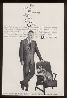 Louis Roth Clothes - Ad w/ Mini Schnauzer