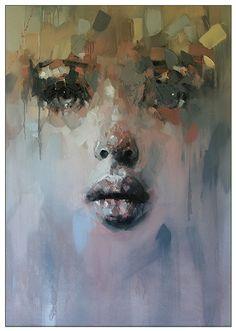 by Ryan Hewett Abstract Portrait, Portrait Art, Schmuck Design, Figurative Art, Painting Inspiration, Lovers Art, Painting & Drawing, Photo Art, Art Projects