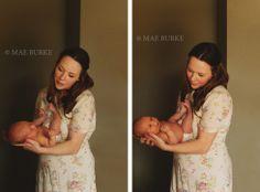 Mother & Newborn Daughter Mae Burke Photography
