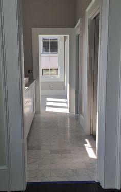6x12 Carrara marble Master Bathroom floor.
