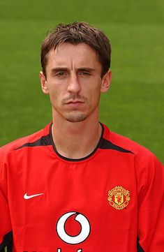 A portrait of Gary Neville during the Manchester United official photocall at Old Trafford on August 11 2003 in Manchester England David Beckham Manchester United, Manchester United Official, Manchester England, Manchester United Football, Man Utd Squad, Man Utd Fc, Old Trafford, Gary Neville, Man United