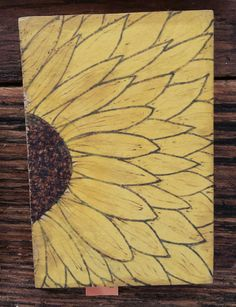 Sunflower woodburn | pyrography | flower art