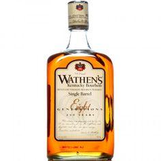 Wathen's Single Barrel Kentucky Straight Bourbon Whiskey.Family owned, bottled to taste - a unique bourbon in a crowded market. | spiritedgifts.com Bourbon Whiskey, Whisky, Small Batch Bourbon, Whiskey Bottle, Kentucky, Barrel, How To Memorize Things, Rye, Bottles