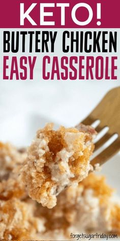 WOW, this keto casserole is amazing! If you're looking for an easy-to-assemble keto casserole recipe that is packed with flavor, look no further than this super tasty Crusted Buttery Chicken Casserole. It contains only ONE gram of net carbs per serving a Ketogenic Recipes, Low Carb Recipes, Diet Recipes, Slimfast Recipes, Ketogenic Diet, Smoothie Recipes, Lunch Recipes, Induction Recipes, Breakfast Recipes