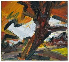 Frank Auerbach (British, b. 1931), Study for Tree on Primrose Hill, 1986. Oil on canvas, 40.6 x 45 cm.