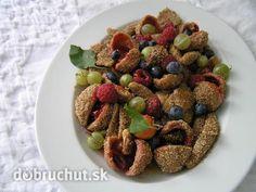 Škoricové mirabelkové gule Dog Food Recipes, Ale, Oatmeal, Cooking, Breakfast, Fitness, Basket, The Oatmeal, Kitchen