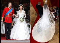 The Royal Wedding lace gown...long laced sleeves & modest lace neckline.