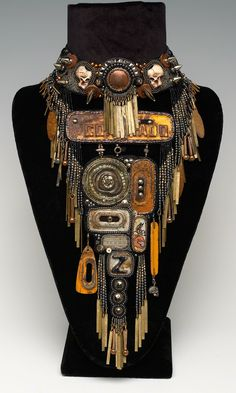 Jewelry Design - Bib-Style Necklace with Metal Drops and Components and Seed Beads - Fire Mountain Gems and Beads