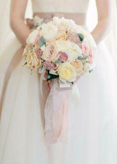 bouquée rose poudré mariage