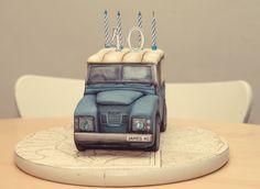 Landrover 40th Birthday Cake Celebration | Cemlyn Cakes | Portishead | Church Stretton Adult Birthday Cakes, Happy Birthday Cakes, 9th Birthday, Bmw Cake, New York Cake, Cake Tutorial, Fondant Cakes, Themed Cakes, How To Make Cake