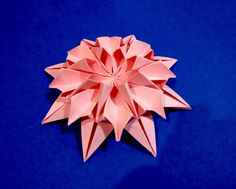 Spring bouquet paper Great ideas for Woman's day, Easter and Mother's day . Gift box for St. Valentines day 8-point Fujimoto's star Origami Flower Instructio...