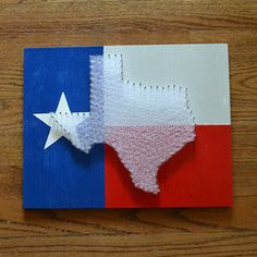 Texas Flag String Art