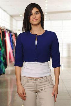 AYHAN MİNİ CEKET SAXS MAVİ 9004 SAKS MAVİ Blouse, Long Sleeve, Sleeves, Tops, Women, Style, Fashion, Swag, Moda