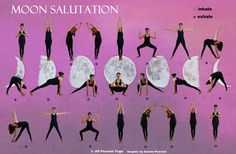 While the Sun Salutation sequence is fiery, intense and strength-building, the Moon Prayer Salutation is soothing and quieting, ideal for days where you just feel worn out and need a calming pick-me-up. Best done in the evening, the sequence pays...