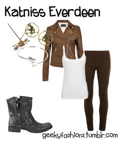 this Katniss Everdeen - The Hunger Games Fashion inspired look is simple and cute i personal love this look