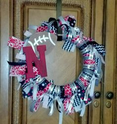 Diy Nebraska Huskers wreath!