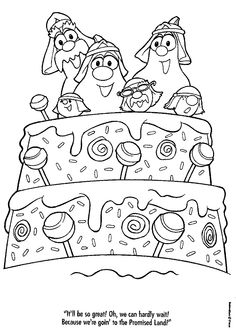 free veggie tales coloring book pages printable coloring pages - Veggie Tales Coloring Pages