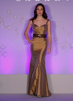 Bridesmaids and Special Occasion Dresses by Lazaro - Style LZ3084... Imagine in BLACK with a white belt... SO classic.