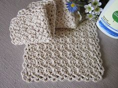 Lacy Slant Stitch Crocheted Dishcl...
