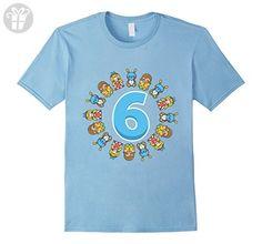 Mens Doll 6th Birthday Tee Shirt Kid T-Shirt Gifts For Girls Medium Baby Blue - Birthday shirts (*Amazon Partner-Link)