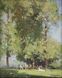 View Leafy June by Arthur Streeton on artnet. Browse upcoming and past auction lots by Arthur Streeton. Impressionist Landscape, Impressionist Paintings, Abstract Landscape, Landscape Paintings, Tree Paintings, Australian Painting, Australian Artists, Watercolor Trees, Watercolor Paintings