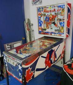 Vintage, Bally Pinball Machine. Titled: Bobby Orr Power Play Hockey