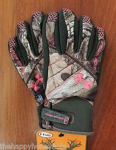 Under Armour STORM Women's Waterproof  Camo Gloves Medium NWT ** Medium