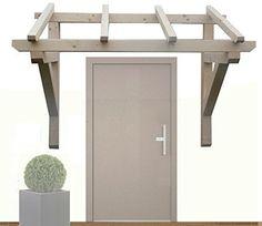 H.A.P PREMIUM Holz Vordach Pultvordach Haustür Tür Überdachung // BREITE: 150cm // TIEFE: Sparren 6 x 6 x 100 cm // Balkenstärke: 9x9 cm // Unbehandelt / NATUR