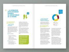Rapport D Activite Drome Mise En Page De Brochure Activite Mise En Page