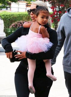 Kim Kardashian carries a tutu-wearing North to ballet class - Kim Kardashian Style
