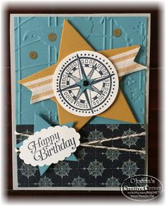 Oksana's Creative Corner: Going Places Birthday Cards. Stampin Up going places going global masculine card