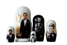 Matryoshka Leonardo DiCaprio. 5 Piece Nesting Doll от bessershop