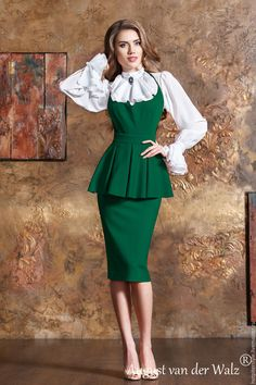 Medium Green Cotton Dress