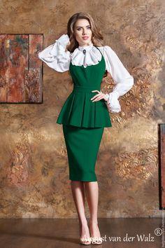 Medium Green Cotton Dress