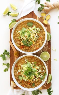 EASY 30 Minute Green Chickpea Curry with Israeli Couscous! So healthy, flavorful and quick! #vegan.jpg