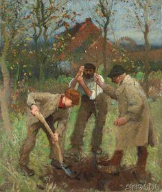 Sir+George+Clausen+-+Ein+Baum+wird+gepflanzt