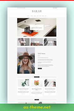 If you need to reach a feminine target market, then this theme is ideal. Whether you are a lifestyle or fashion blogger, this simple blog template is both responsive and super easy to install and use. The minimal style and color palette of this blog template will provide a structure that will work excellently for both business websites and blogs. #fashion #bloggers #blogtemplate