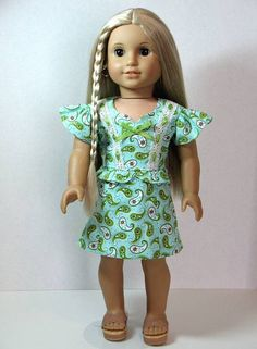 From 2012 - 1970's Soda Pop dress for Julie made from a Dollhouse Designs pattern