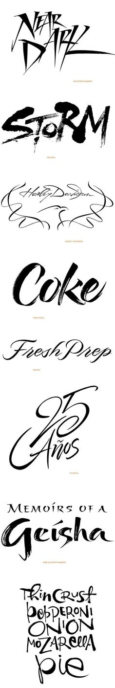 Lettering Design: Contemporary Brush Styles by Iskra Johnson, via Behance