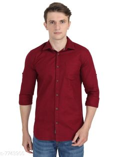 Checkout this latest Shirts Product Name: *Carbonn Cloth Men Full Sleeve Cotton Shirts* Fabric: Cotton Sleeve Length: Long Sleeves Pattern: Solid Multipack: 1 Sizes: S, M, L, XL, XXL Country of Origin: India Easy Returns Available In Case Of Any Issue   Catalog Rating: ★4 (446)  Catalog Name: Comfy Fashionable Men Shirts CatalogID_1261914 C70-SC1206 Code: 574-7743905-7911