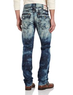 12eeaf859 True Religion Men s Ricky Straight Leg Classic Old Multi Stitch Combo
