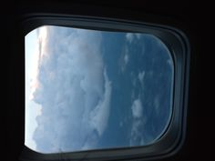 Out of a plane window