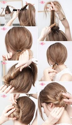 How to Make a bun hairstyle in five minutes