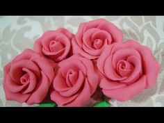 HOW TO MAKE FONDANT ROSES Cake decorating techniques to also make gumpaste rose & sugar paste roses - YouTube