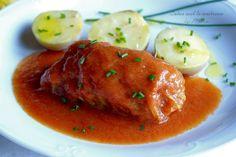 Cuina amb la mestressa: Kohlrouladen {rollos de col} con salsa picante